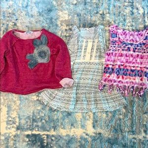 3 girls tops all size 7